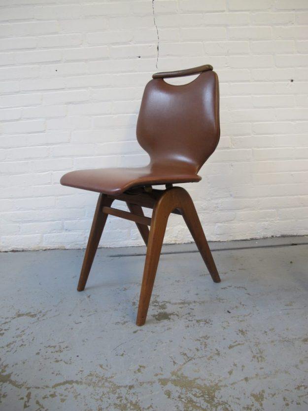 Louis van Teeffelen teakhouten stoelen midsentury vintage