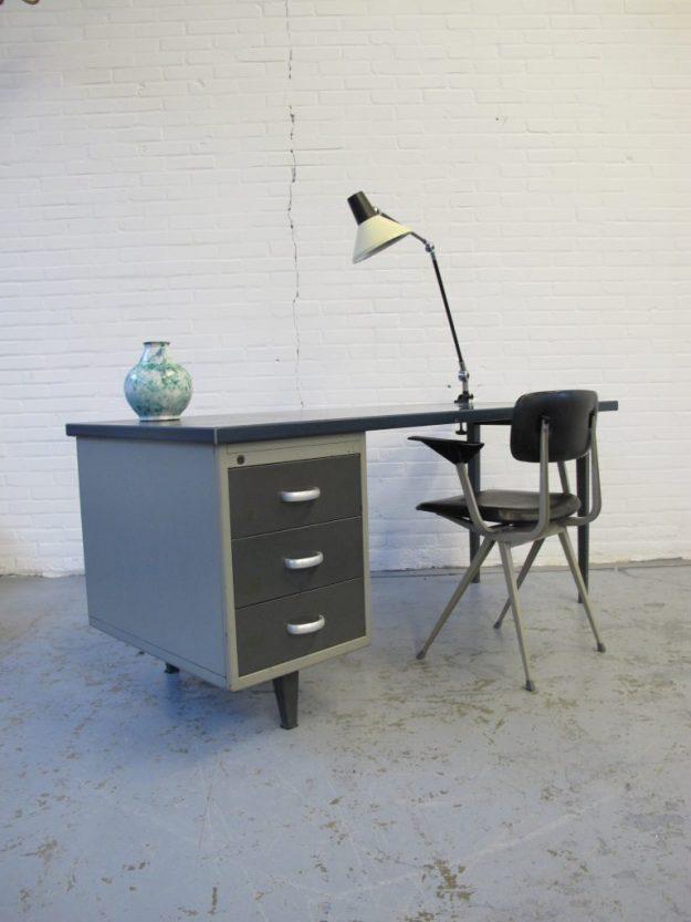 A.R. Cordemeijer Gispen industrieel bureau midsentury vintage