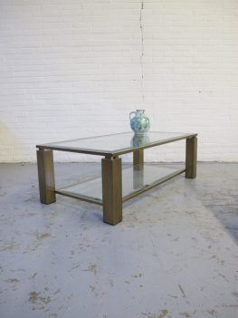 Tafel DeKnudt Willy Rizzo messing brass salontafel vintage midsutury