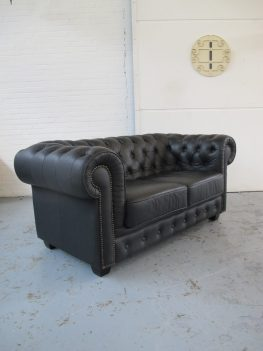 Originele Engelse Chesterfield bank vintage midsutury