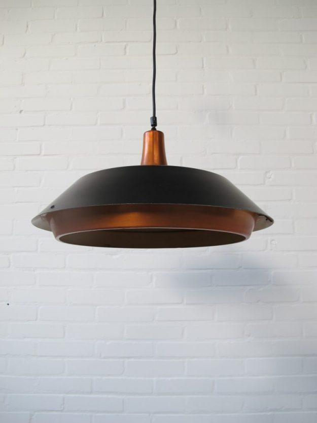 Deense Fog & Morup messing hanglamp vintage midsuntury