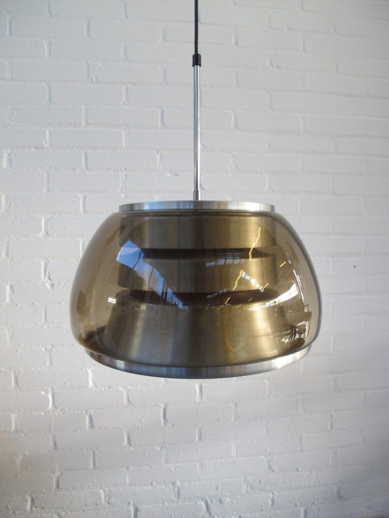 Lamp space age Raak Amsterdam glazen metalen UFO hanglamp ...
