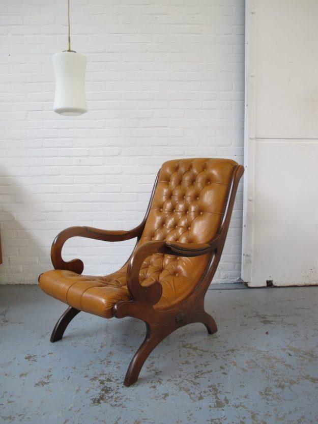 Fauteuil Originele Chesterfield barok vintage midsentury