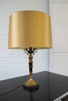 Lamp messing Hollywood Regency style tafellamp vintage midcentury