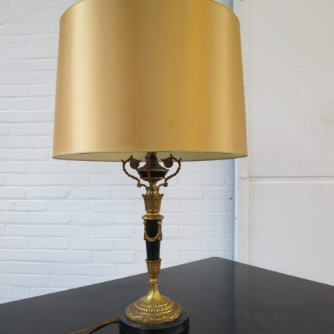 Lamp messing Hollywood Regency style tafellamp vintage midcentury