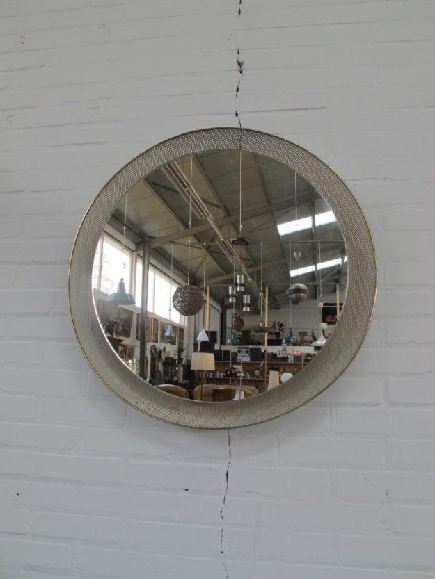 Mathieu Mategot Artimeta verlichte spiegel vintage midsuntury