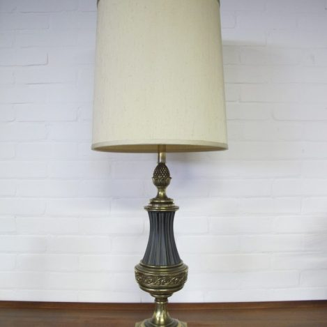 Lamp messing Hollywood Regency style tafellamp vintage midsuntury