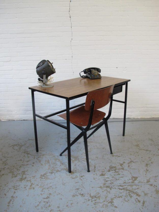 Bureau teakhout Pierre Guariche Meurop vintage midsentury
