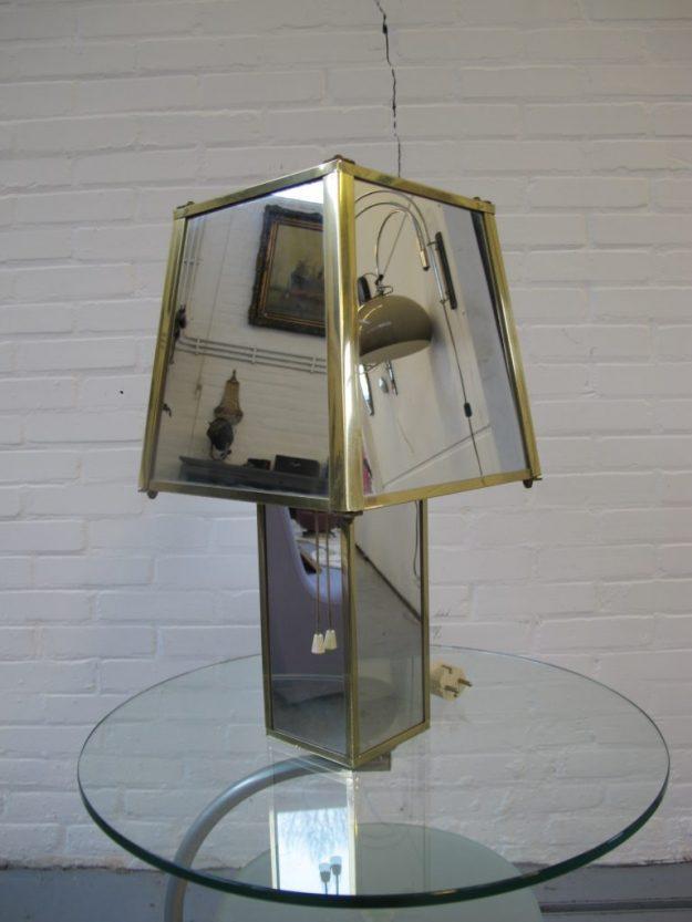 Lamp DeKnudt Willy Rizzo messing spiegellampbvintage midsentury