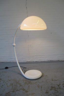 Serpente vloerlamp Elio Martinelli voor Luce Martinelli Italie vintage midsentury