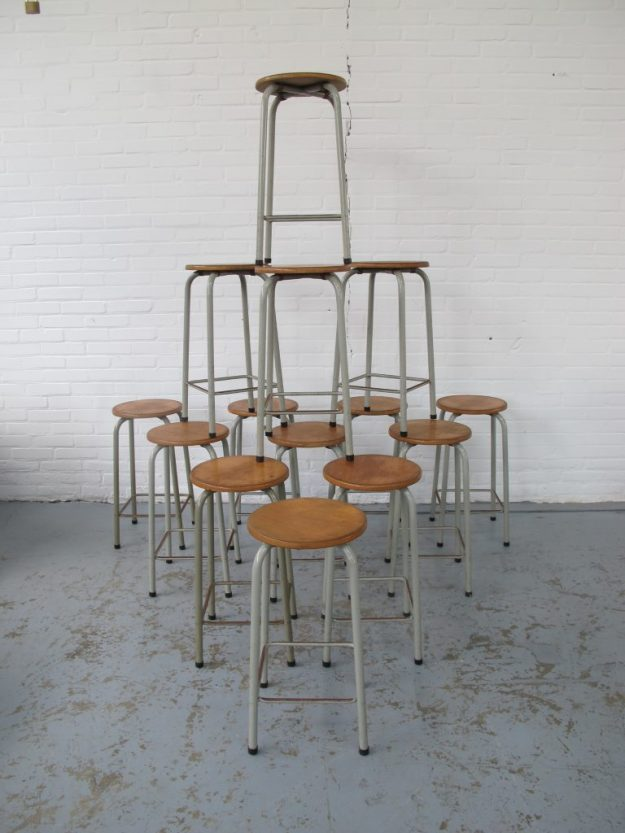 Friso Kramer school teken krukken vintage midsentury