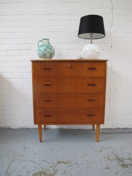 Pastoe Deens ladekast teakhout Vintage midcenturymodern
