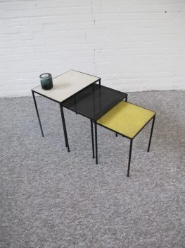 miniset nesting tables Floris Fiedeldij Artimeta Soest vintage midcenturymodern