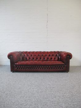 Bankstel Engelse Chesterfield Oxblood vintage midcentury mid century modern