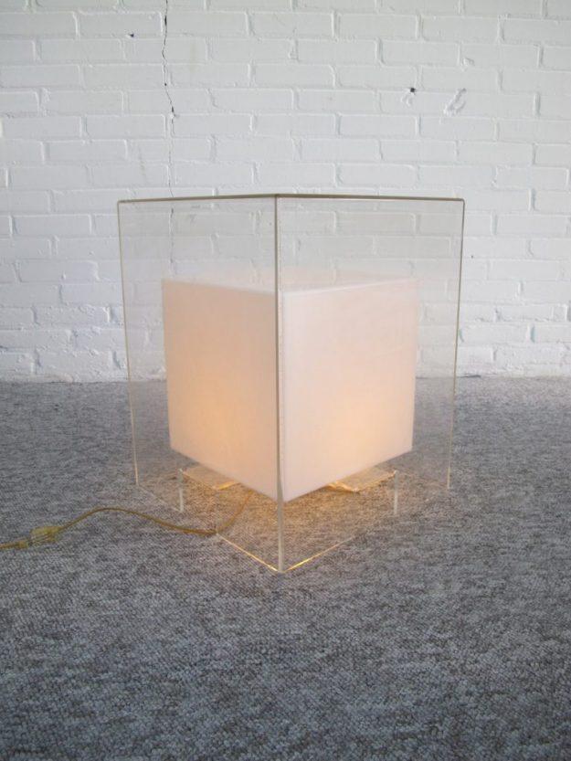 lamp plexiglas acrilic design vloerlamp vintage midcentury mid century modern