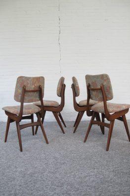 Stoel stoelen Louis van Teeffelen WéBé vintage midcentury mid century modern