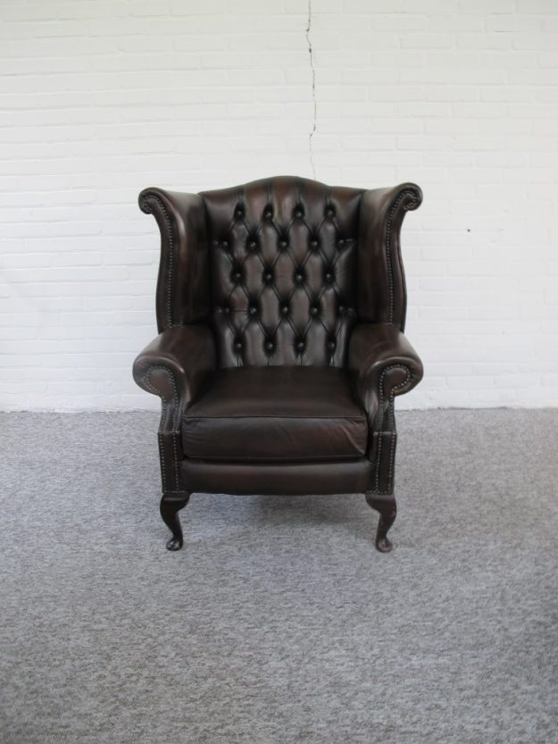 Engelse Chesterfield fauteuil midcentury vintage