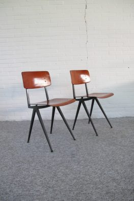 Marko bureau teken school stoelen schoolstoelen midcenturymodern vintage