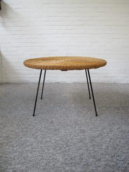 Rotan tafel tafeltje Arthur Umanoff vintage midcenturymodern midcentury