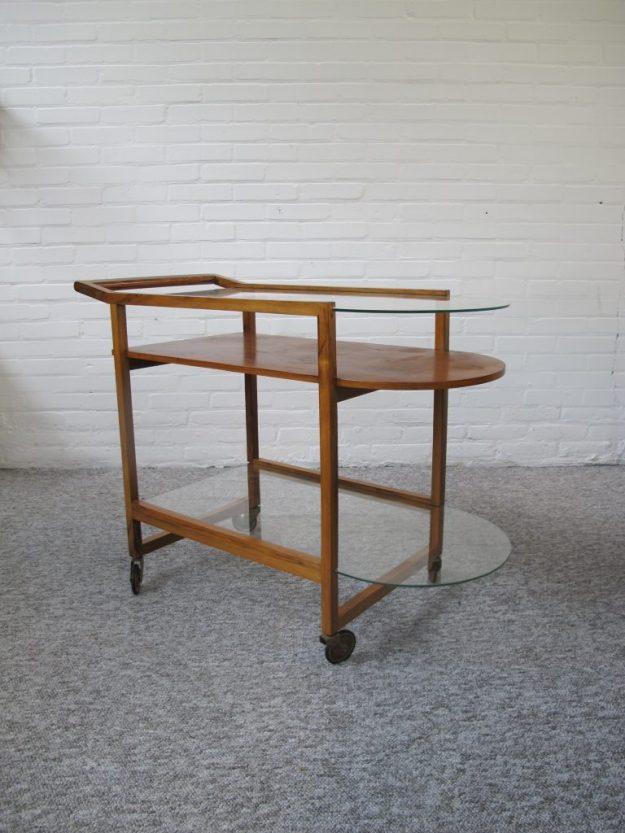 Serveerwagen theewagen Pastoe Deense serving cart vintage midcentury