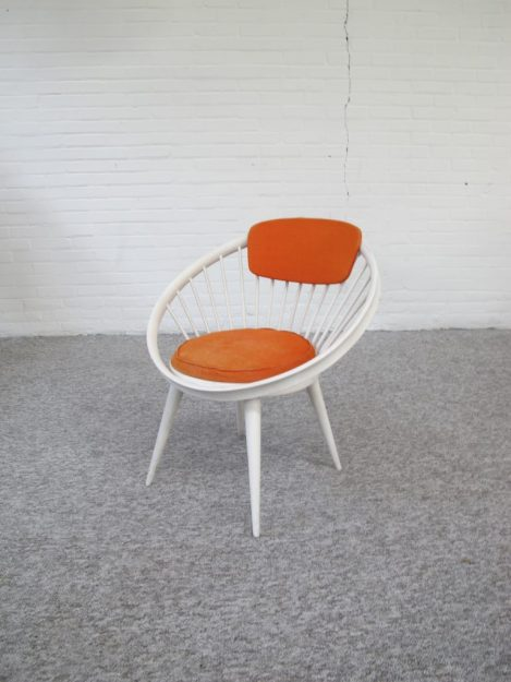 fauteuil Cirkel Chair Yngve_Ekström voor Swedese vintage midcentury