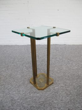 tafel messing bijzettafels Side Table Peter Ghyczy vintage midcentury