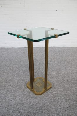 tafel messing bijzettafels Side Table Peter Ghyczy vintage midcentury