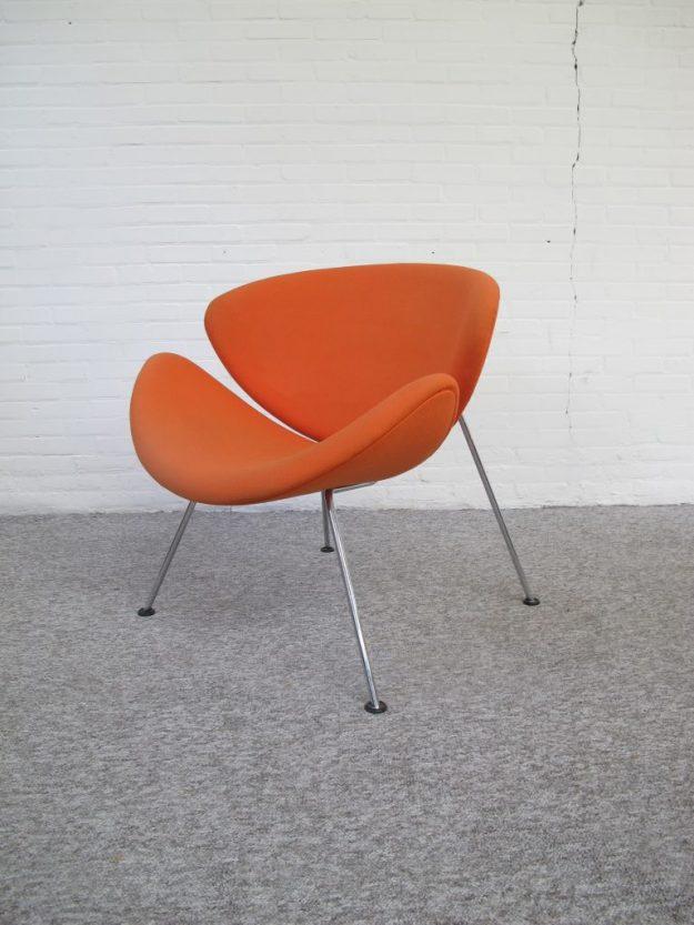 Fauteuil Artifort F437 Orange Slice van Pierre Paulin vintage midcentury
