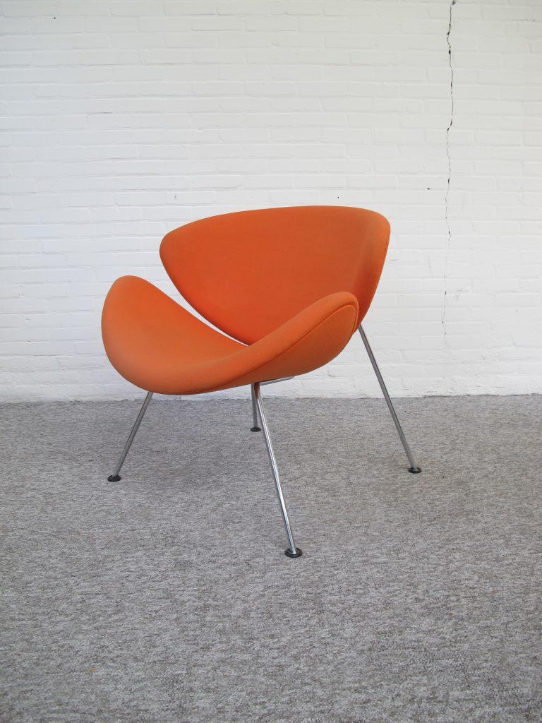 fauteuil vier artifort f437 orange slice van pierre paulin uit de jaren 70 tweedehands kopen. Black Bedroom Furniture Sets. Home Design Ideas