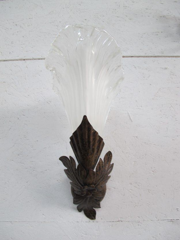 Lamp Murano Italië bloemen wandlampen vintage midcentury