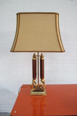 Lamp Willy Rizzo DeKnudt brass tafellamp midcentury vintage