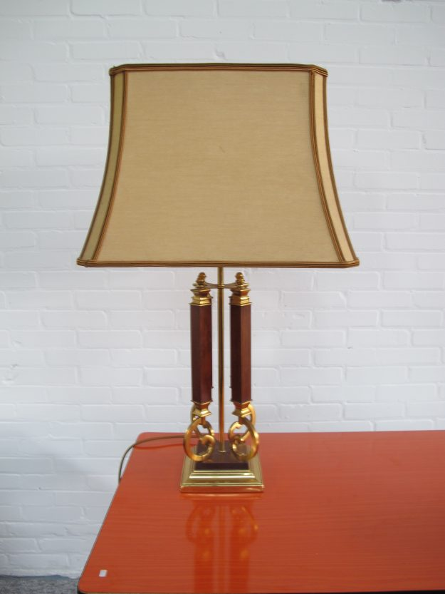 Lamp Willy Rizzo DeKnudt brass tafellamp midcentury vintage
