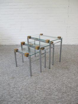 Pastoe nesting tables miniset vintage midcentury