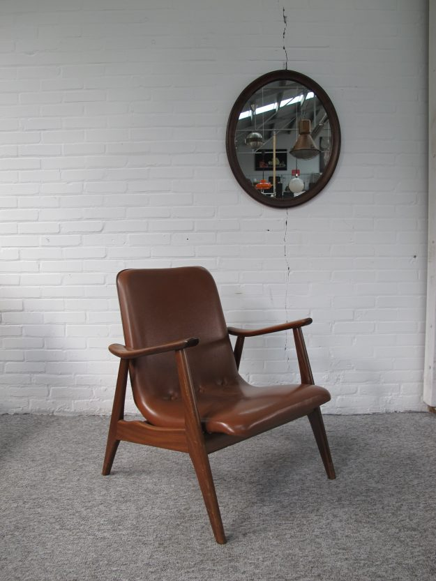 Lounge fauteuil Louis van Teeffelen Wébé vintage midcentury
