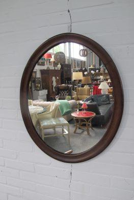Deense Deens teakhouten spiegel vintage midcentury