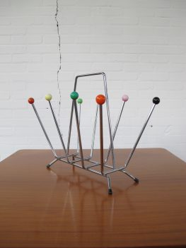 Lectuurbak Charles And Ray Eames Atomic Sputnik magazine holder vintage midcentury