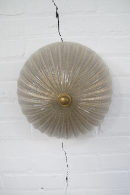 Lamp Barovier & Toso Murano brass plafondlamp midcentury vintage