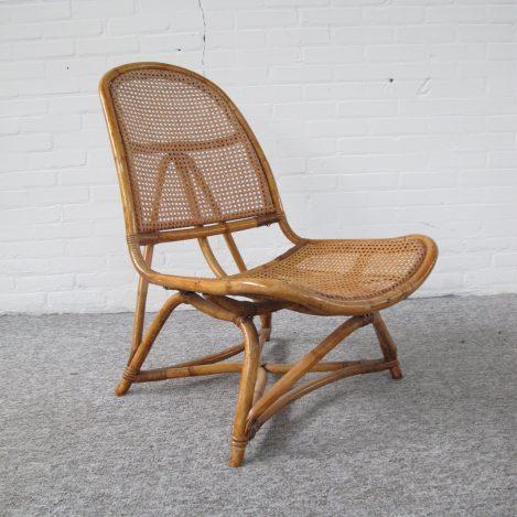 Rotan fauteuil Gio Ponti Franco Albini Tito Agnoli vintage midcentury