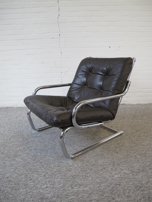 Deens Scandinavische lounge fauteuil vintage midcentury