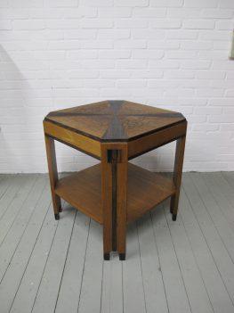 Tafel Antiek Amsterdamse school bijzettafel midcentury vintage