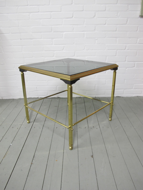 Tafel messing brass bijzet tafeltje Maison Jansen midcentury vintage