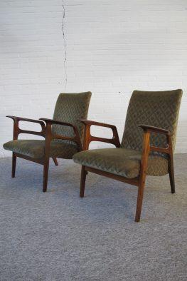 Lounge fauteuils Louis van Teeffelen voor Wébé vintage midcentury