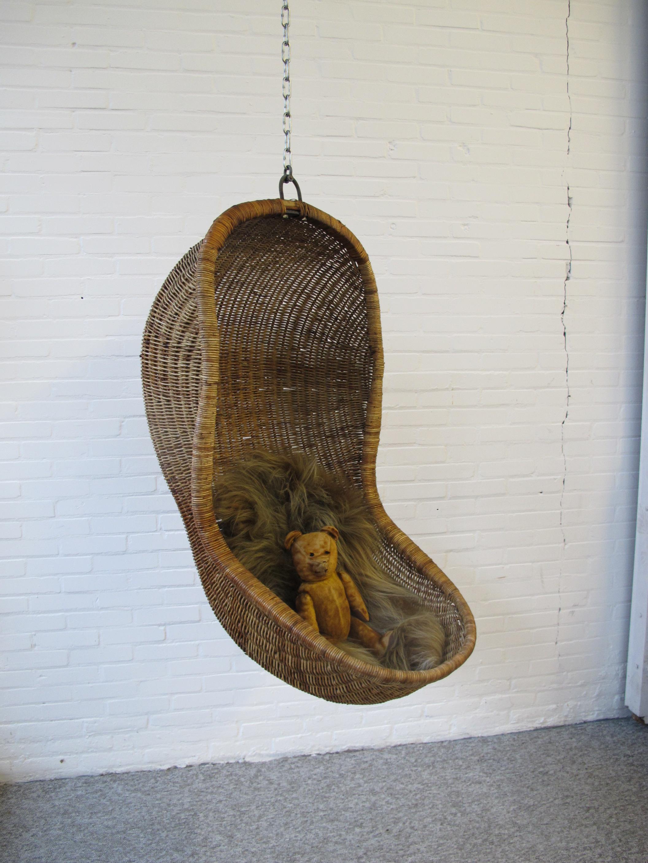 Rohe Noordwolde rotan Rattan hangingchair Nanna Ditzel midcentury vintage