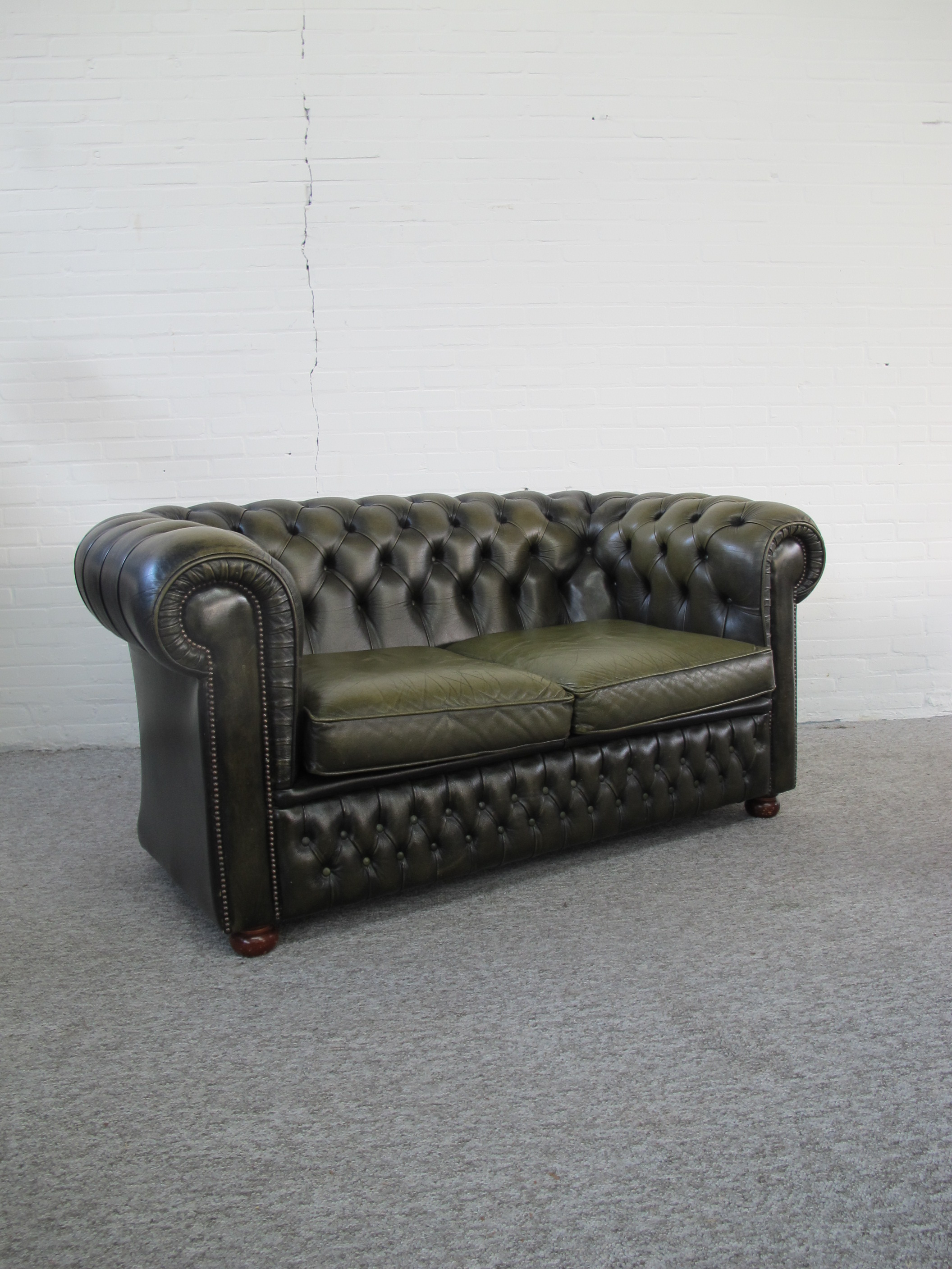 Bank sofa Originele Engelse Chesterfield vintage midcentury