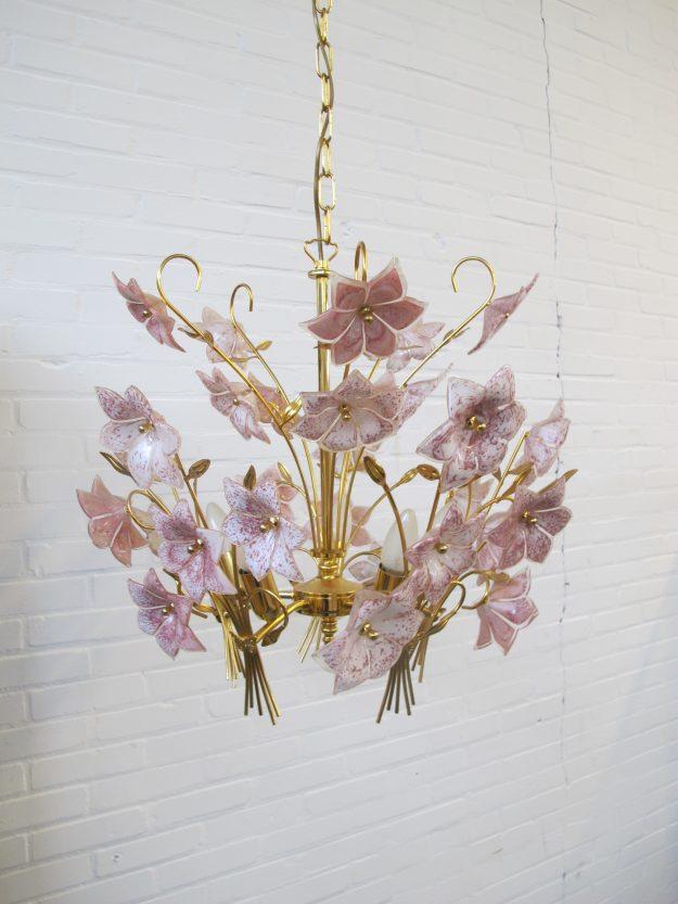 Franco Luco Murano lampen Miason Jansen Hollywood Regency vintage midcentuy