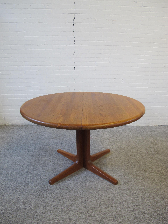 Tafel Johannes Andersen voor Glostrup teakhouten eethoek vintage midcentury