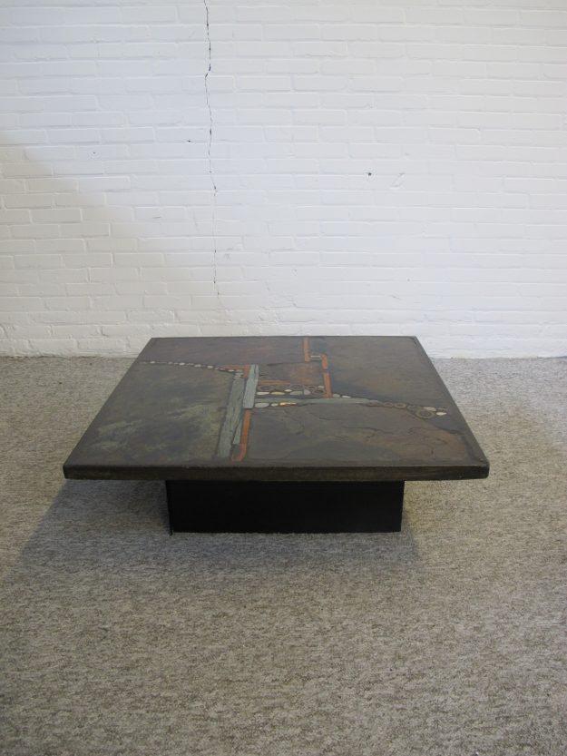 Tafel salontafel beeldhouwer Paul Kingma vintage midcentury
