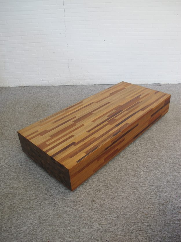 salontafel houten Aulia tafel Henk Vos Linteloo vintage midcentury