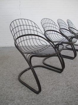 stoel draad stoelen Gastone Rinaldi Thema Italië vintage midcentury