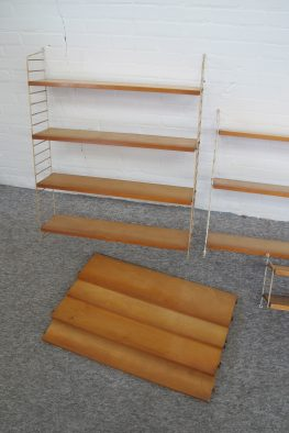 Wandmeubel wandsysteem Nisse String String Design AB vintage midcentury